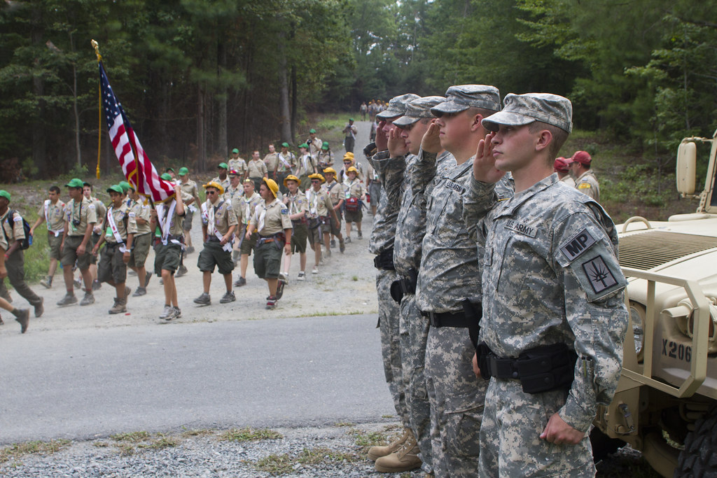 Army brass meets Scouts