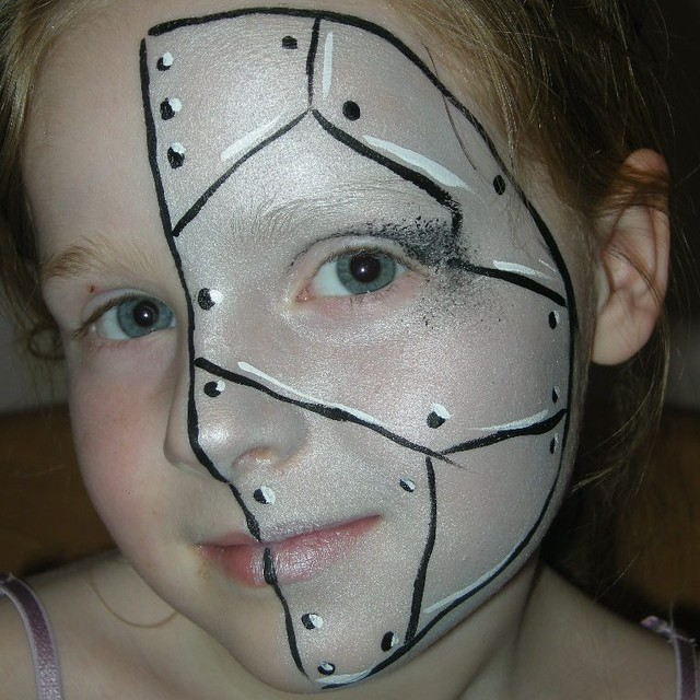Half Robot Face Painting | Flickr - Photo Sharing!