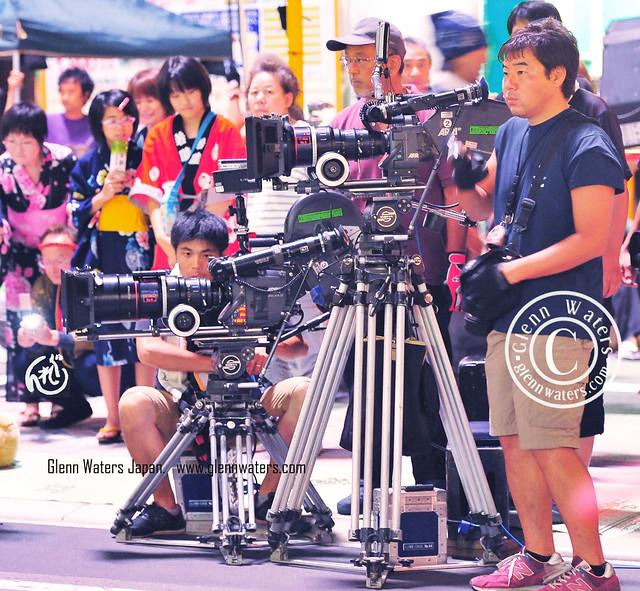 星守る犬 Making A Movie In My Town.  Hirosaki Japan. © Glenn Waters. Equipment does count! 瀧本智行   玉山鉄二   川島海荷   浜田毅. Over 13,000 visits to this image.