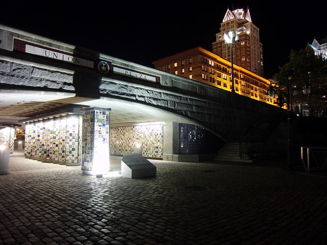 Union Plaza tunnel from Waterplace