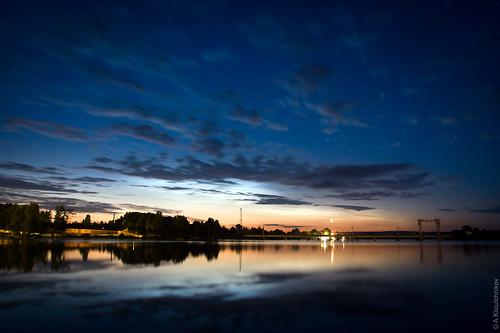 2005 travel moon reflection water night clouds stars geotagged canon20d karelia vyborg viborg