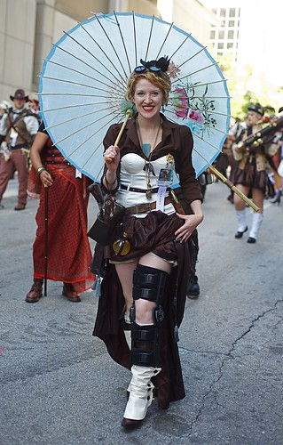 Steampunk Lady in the 2010 Dragon*con Parade