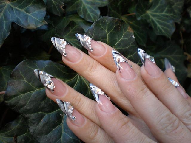 nail art stiletto nail french grey grau schwarz explore. Black Bedroom Furniture Sets. Home Design Ideas