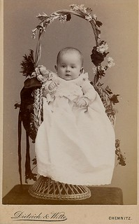 Cdv ...baby in a basket