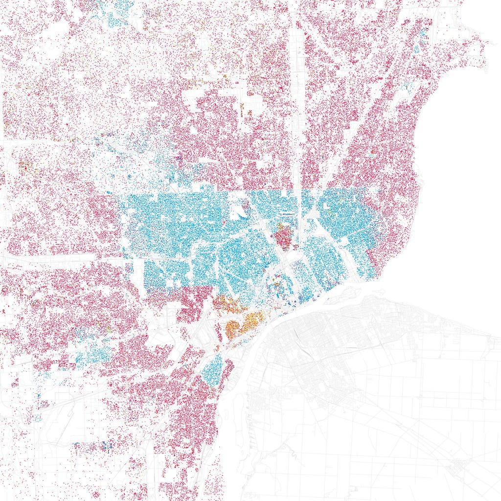 Striking Segregation In Dot Density Maps Oak Park Regional - Us segregation map