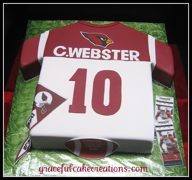 Football Jersey Birthday Cake