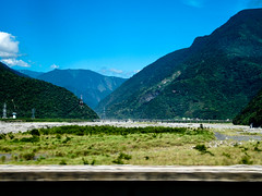 Scenic view from the train to Hualien