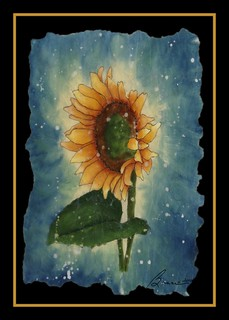 a Batik Sunflower........
