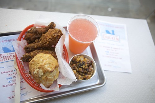 Lunch at Hill Country Chicken - as seen in the pages of Travel + Leisure. Photo by Clay Williams.