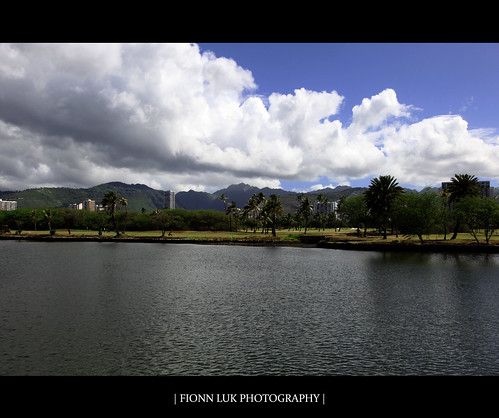 summer vacation usa mountains tree water clouds canon landscape hawaii canal us scenery view oahu united august scene ala 5d honolulu states wai luk fionn alawaicanal fionnluk
