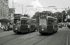Tramlijn 24 rolling stock in 60-ties and 70-ties