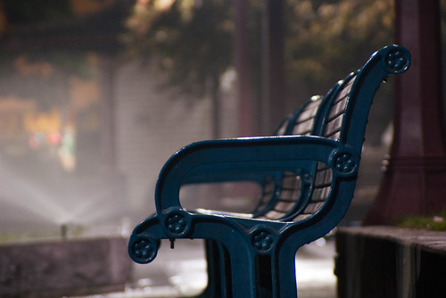 12862 Portsmouth Square benches with water sprinkler mist | by geekstinkbreath