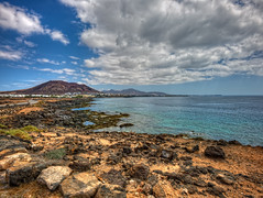Beach – Playa Blanca, Lanzarote (Spain), Vertorama HDR