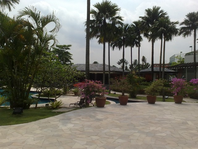 Pool area of Thistle Hotel