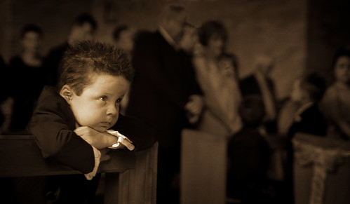 Pageboy in a chapel.