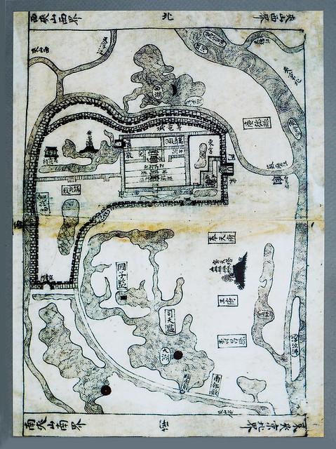 Bản đồ Thăng Long theo Hồng Đức Địa Dư (1490) - Plan de Thang-long d'après la Géographie de Hông-dức (1490)