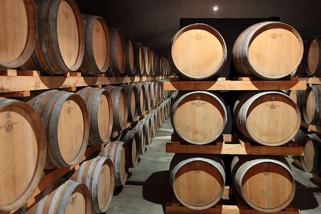 Leeuwin Estate Wine Barrels