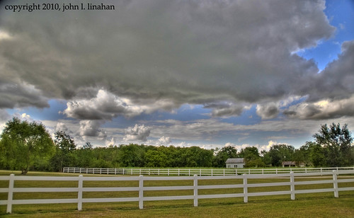 blue sky cloud clouds photoshop landscape nikon louisiana gray scenic cumulus whitepicketfence hdr d60 photomatix duson 4271