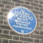 Sir Harry Ricardo blue plaque