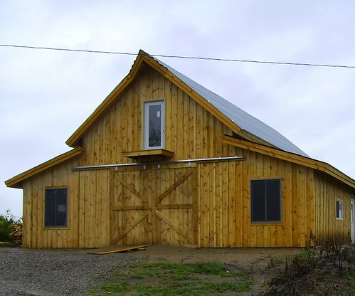 A post and beam barn kit that you can build yourself for Barn loft homes