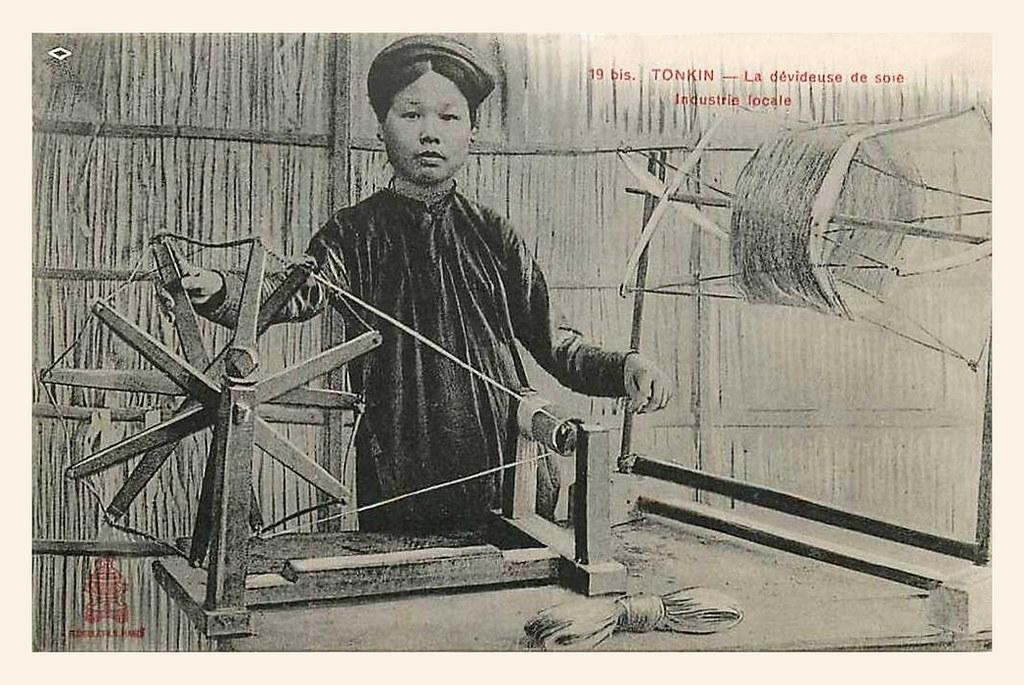 La dévideuse de soie - Industrie locale