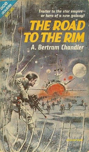 A. Bertram Chandler - The Road to the Rim - Ace Double H-29 - cover artist Jerome Podwil