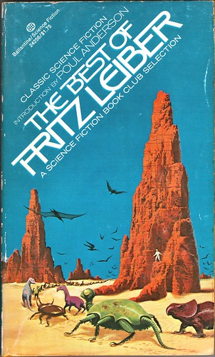 Fritz Leiber 1974-11 The Best of Fritz Leiber Front Cover by Dean Ellis