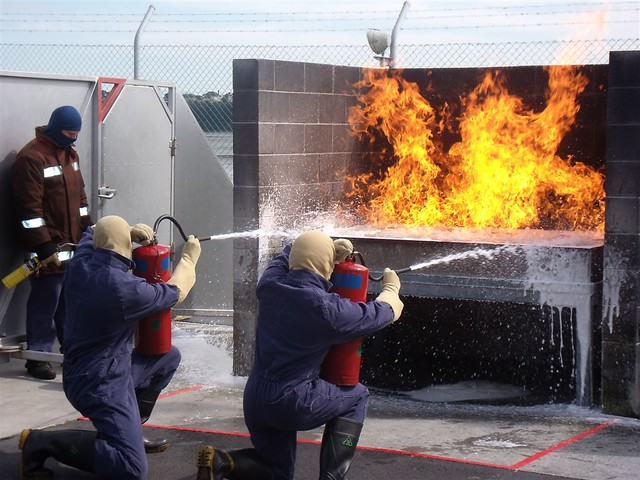 Fire Fighting In The Pits Using Afff Extinguishers
