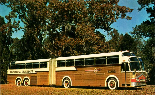Continental Trailways Super Golden Eagle Bus 1958