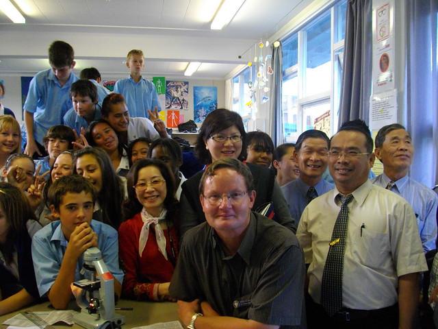 參訪Rosehill中學(2009年4月份-金色山莊安排雲林縣教育參訪團赴紐考察)