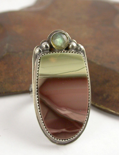 Imperial Jasper with Labradorite accent