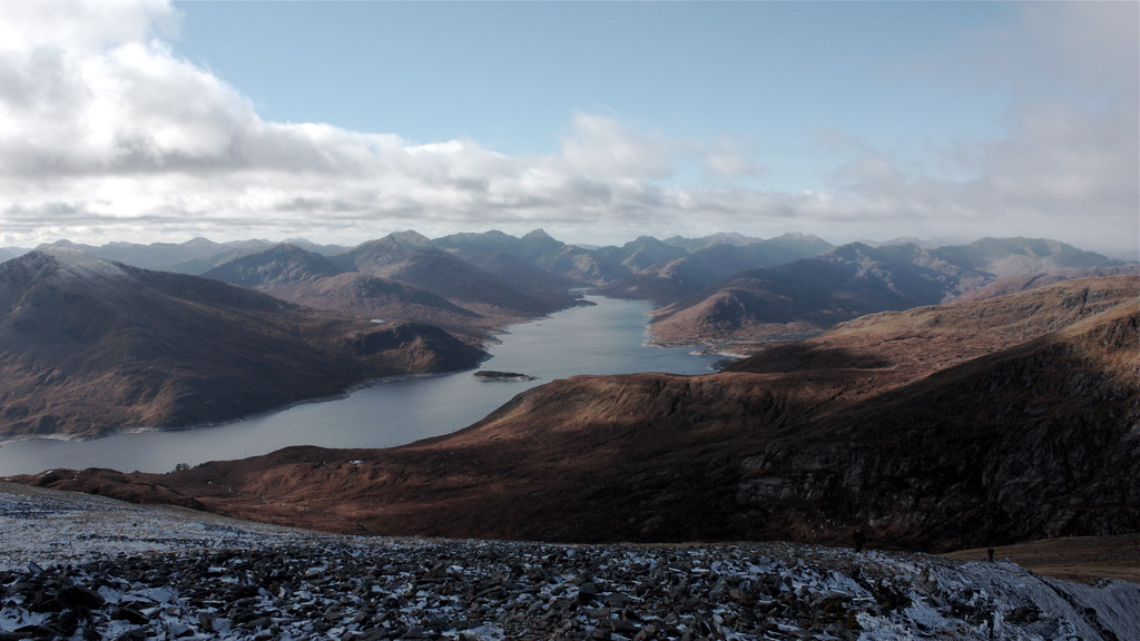 The mountains around Loch Quoich