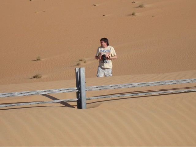 Desert Antics - sure I just saw a snake !