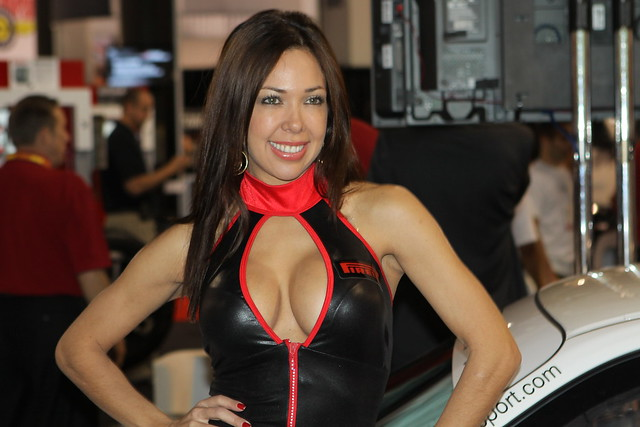 2010 SEMA Pirelli Tire Booth Girl
