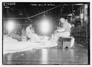 Making sails at Ratsey's  (LOC)