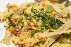 vegetarian food(0.0), caesar salad(0.0), meal(1.0), breakfast(1.0), salad(1.0), vegetable(1.0), produce(1.0), food(1.0), dish(1.0), scrambled eggs(1.0), cuisine(1.0),