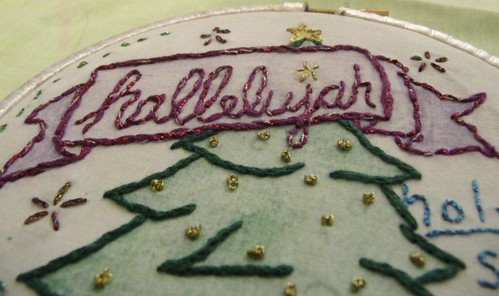 Disgruntled Christmas Embroidery