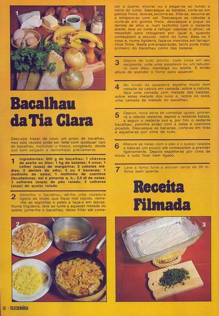 Tele Culinária e Doçaria, Especial Outono, Setembro 1980 - 8