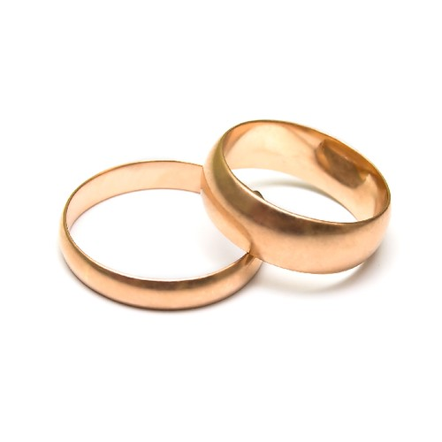 Pair wedding rings