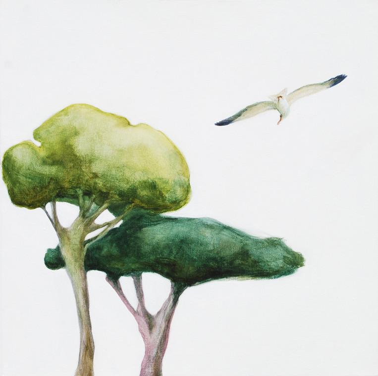 Resultado de imagen para gaviotas y arboles painting