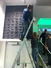 växtvägg vid hiss