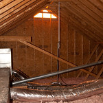 Antenna in attic