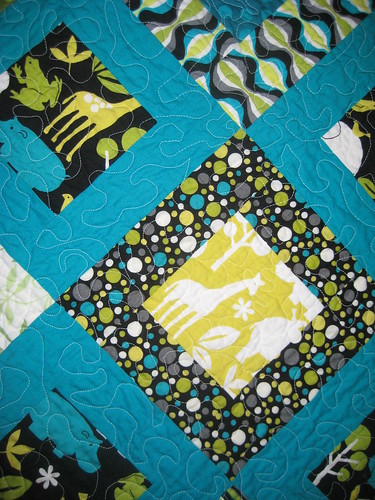 Close up of Zoology Baby Quilt