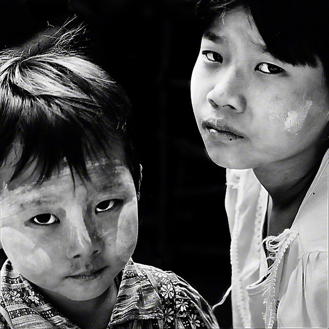 gentle and sad,a tribute to the Burmese People
