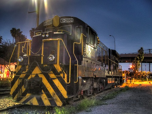 2601 Fepasa Diesel Engine in HDR at Quilicura Station