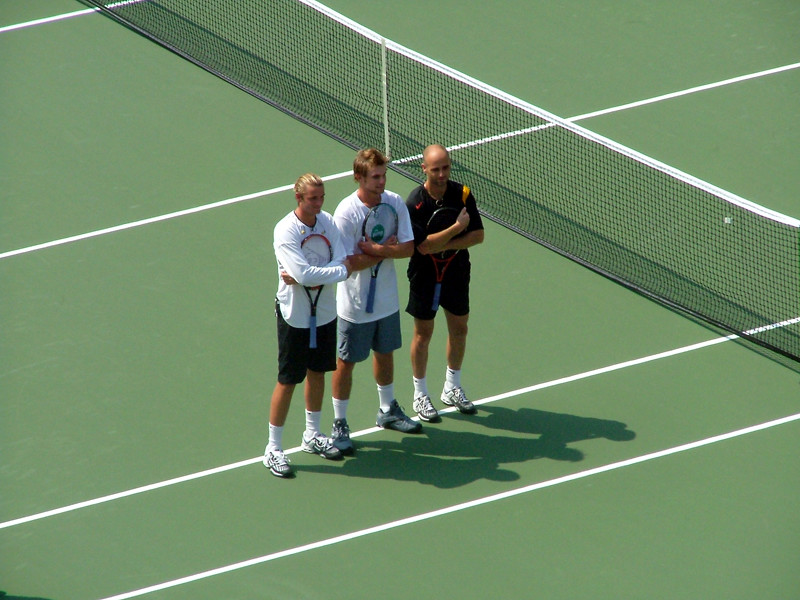 Andre Agassi, Andy Roddick, Mardy Fish