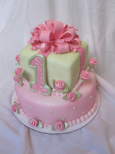 Cake Ideas For Baby Girl 1st Birthday : 1st first birthday cake girl Flickr - Photo Sharing!