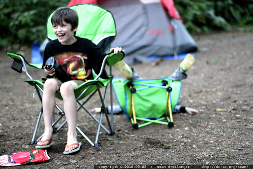 sequoia backflips his camp chair