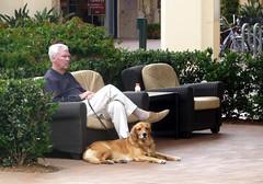 Man With Dog, Fashion Island
