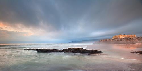 ocean sunset storm beach portugal nature clouds pnsc ilustrarportugal